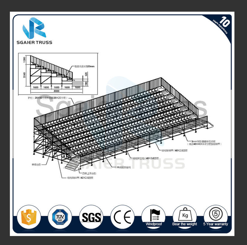 outdoor stadium grandstand permanent grandstand seating with fixed base